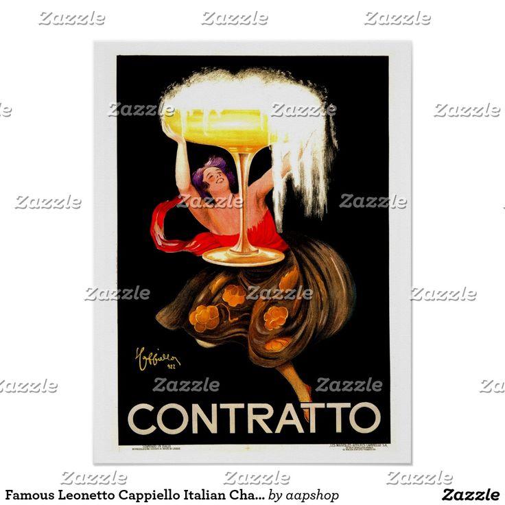 Famous Leonetto Cappiello Italian Champagne