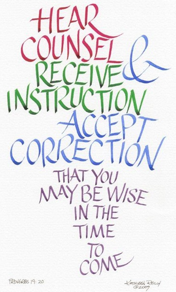 a wise man receives instruction