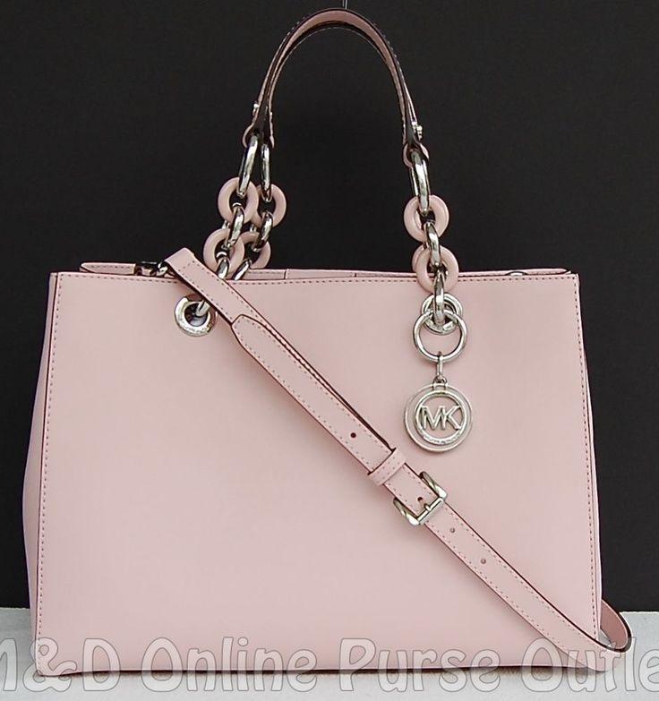 148f01573056 ... best price nwt auth michael kors saffiano leather medium cynthia ns satchel  purse blossom michaelkors 15fe7