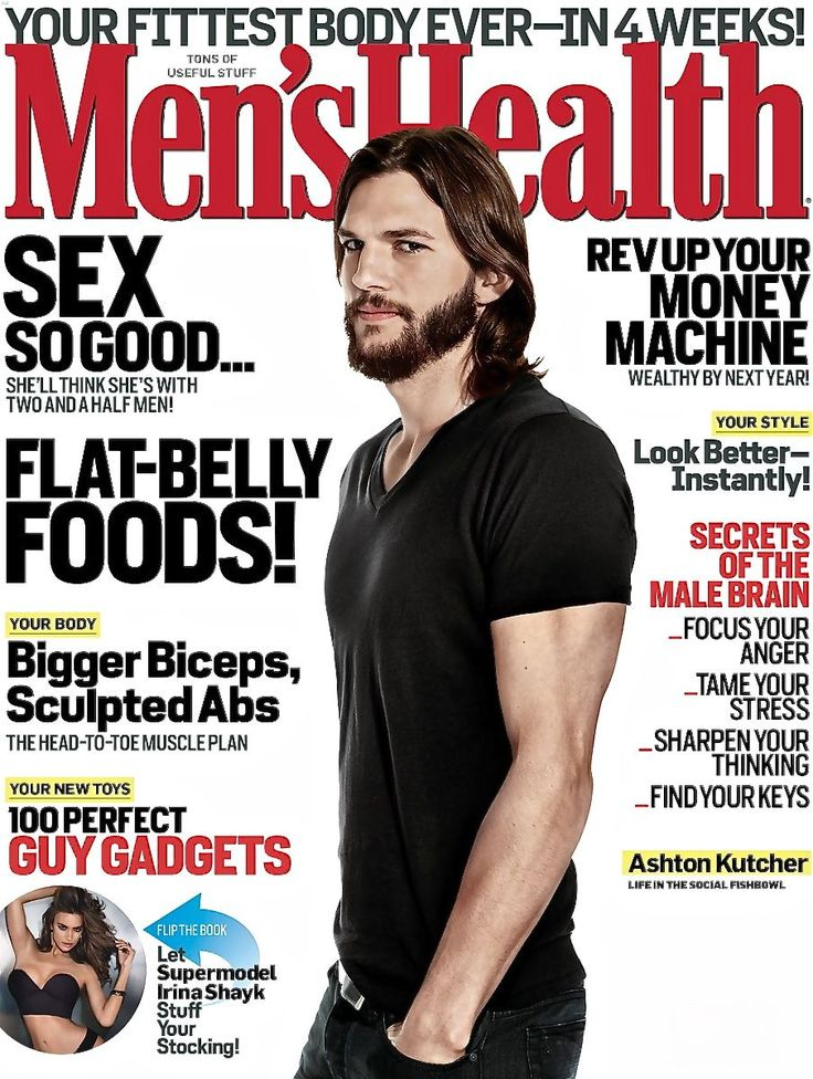 Ashton Kutcher - Men's Health Magazine Cover [United States] (December 2011)