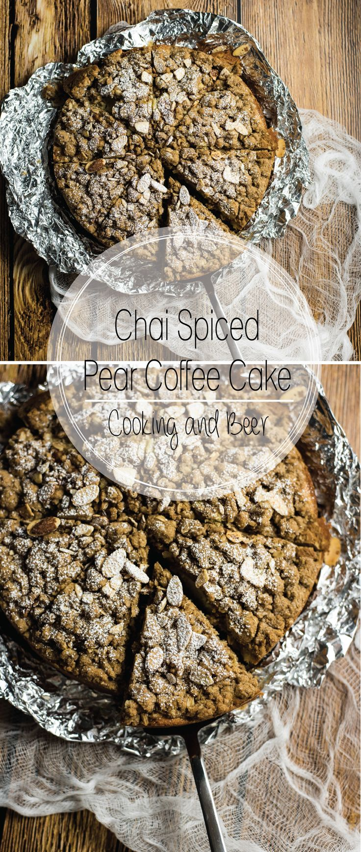 Chai Spiced Pear Coffee Cake is the perfect fall breakfast or dessert recipe. It…
