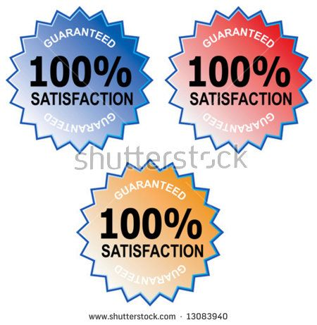 100% satisfaction guaranteed icon  #satisfactionguarantee #retro #illustration