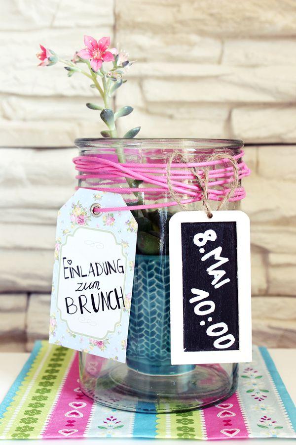Einladung Muttertagsbrunch DIY