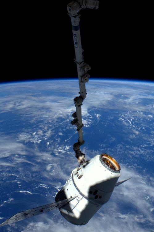 Dragon Earth ISS. High resolution