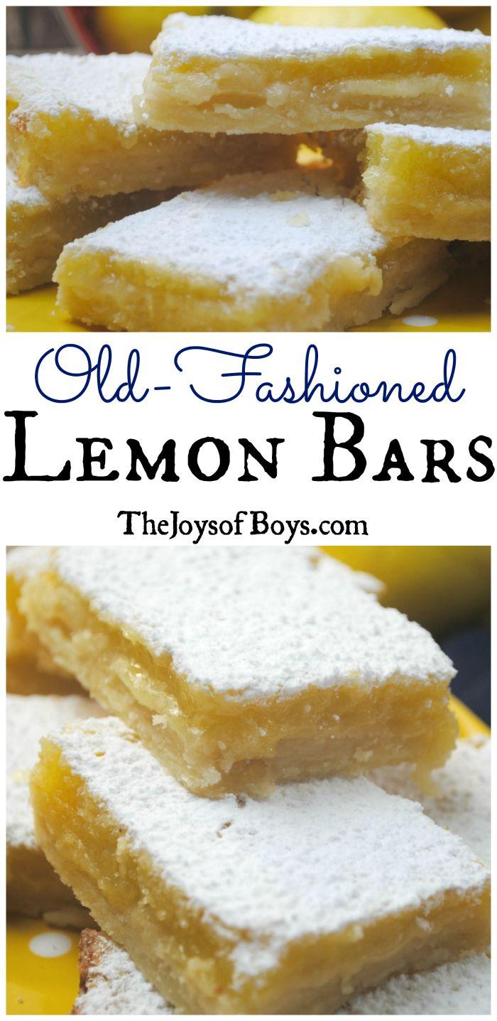 Old-Fashioned Lemon Bars