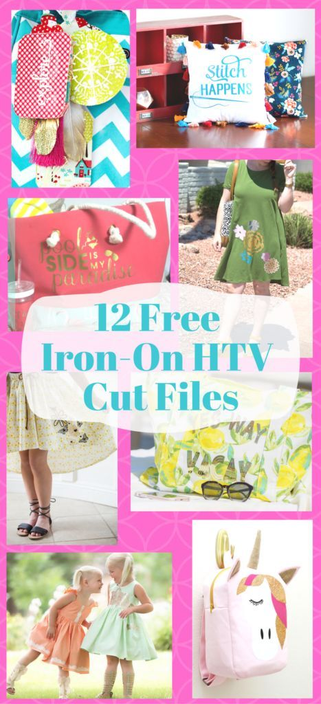 Sew with Cricut Iron-on cut files and free sewing patterns!