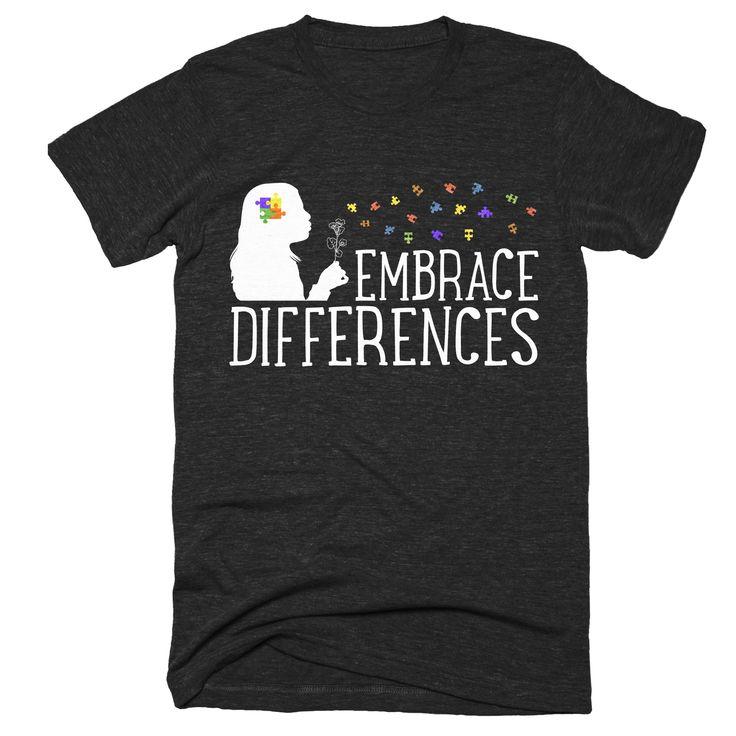Embrace Differences Tshirt | Autism Awareness Shirt | Be Different Autism Shirt | Autism Pride Tshirt Men Women Kids Gift