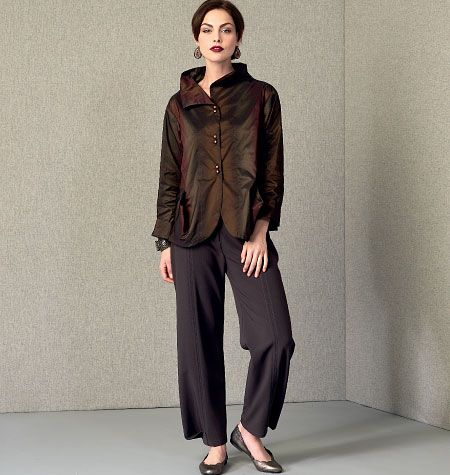 Marcy Tilton, Misses' Jacket and Pants, V9035 http://voguepatterns.mccall.com/v9035-products-48759.php?page_id=174