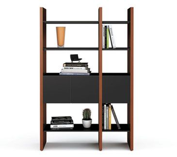 home office shelving systems. semblance modular storage system by bdi in black and stained cherry home office shelving systems