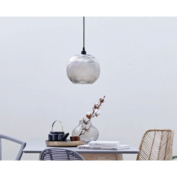 Suspension globe en verre vintage