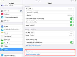 How To Delete Cookies And Clear Web History in the iPad Safari Browser