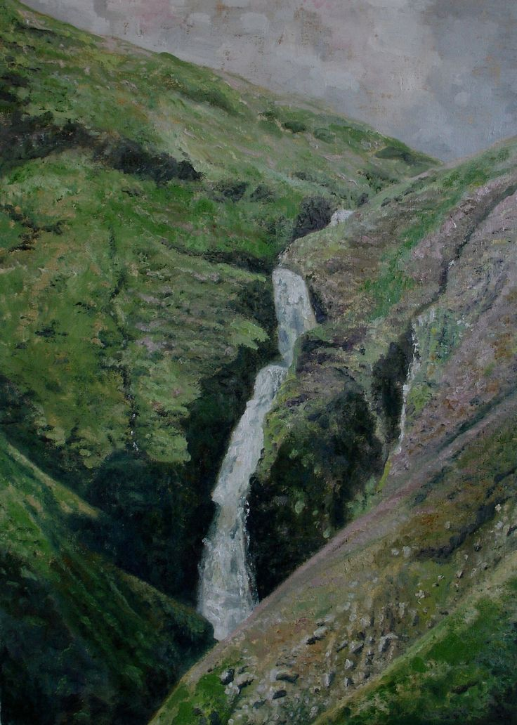Grey's Mare Tail - Oil by Tom Wormell