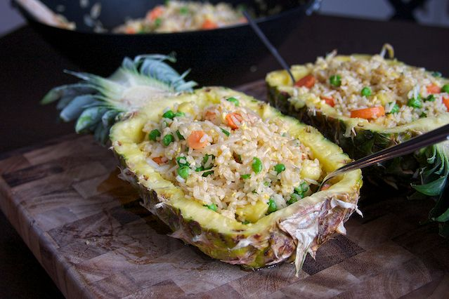 Pineapple Fried Rice, an excellent way to use up your leftover white rice!