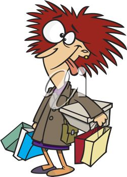 Royalty Free Clipart Image of a Frazzled Woman   Cartoon ...