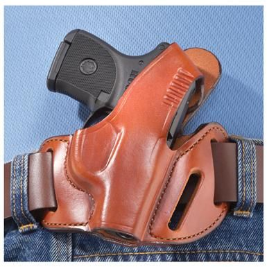 "Bianchi® Ruger® LCP Holster $26.99. Bianchi®, since 1958! Recognized as the leader of innovative, high-quality handgun holsters worldwide.  Premium brown leather Belt-style Ruger® LCP Holster Thumb snap. 6 1/2 x 6"", 3 ozs."