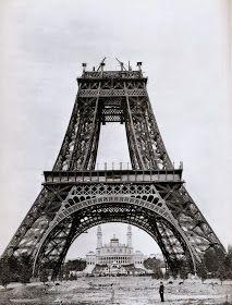 Eiffel, mid-construction. August 21,1888