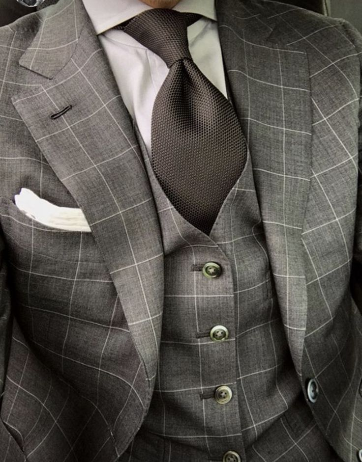 Grey windowpane suit