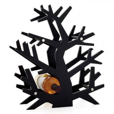 Tree Wine Rack in Black - Arrives Gift Boxed