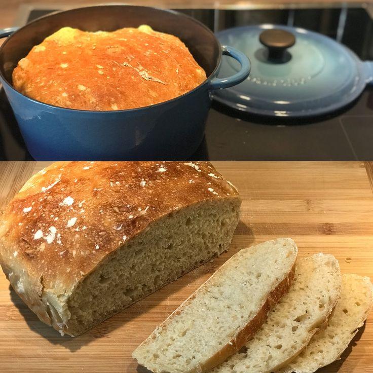 Super leckeres und vor allem saftiges Brot im Topf gebacken; und das ganz ohne z…  #wochenplan essen
