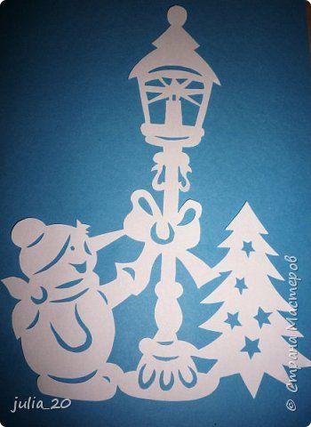 Декор предметов Новый год Вырезание Новогодние вытынанки Бумага фото 3