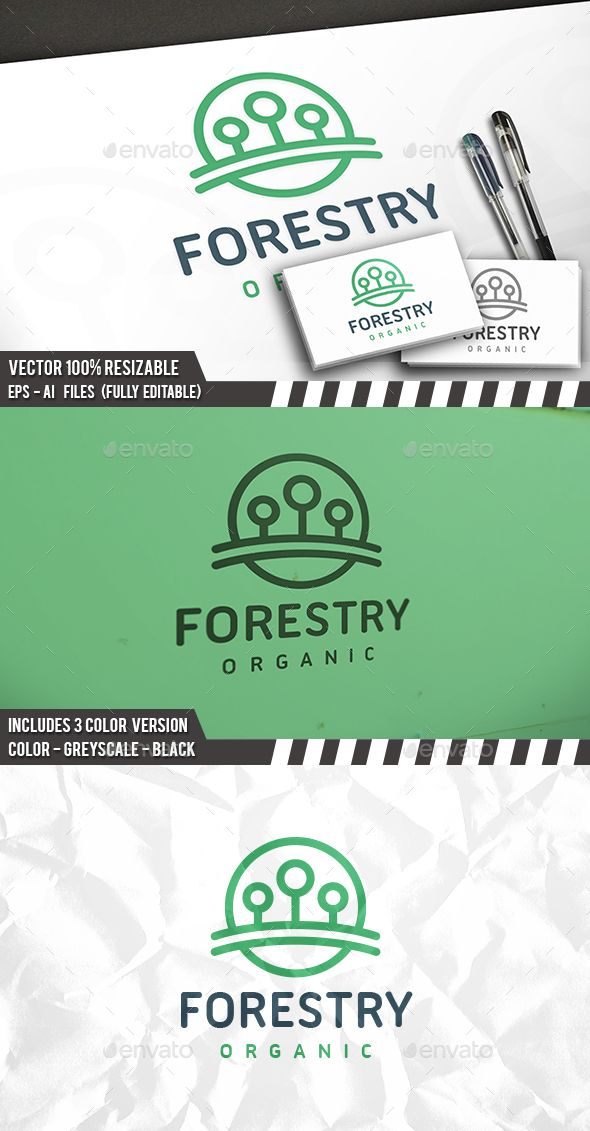 Forest Circle - Logo Design Template Vector #logotype Download it here: http://graphicriver.net/item/forest-circle-logo/14200087?s_rank=232?ref=nexion