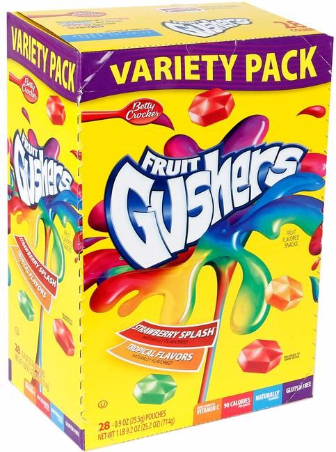 Fruit Gushers Variety Pack - 28CT Box $14.99