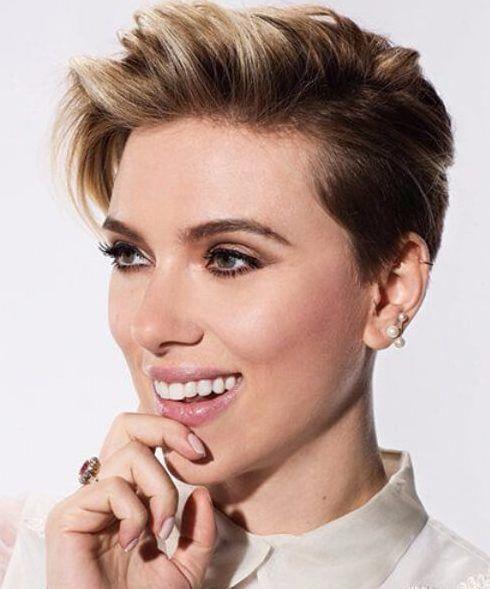 scarlet Johansson short hair ombre #shortombrehair