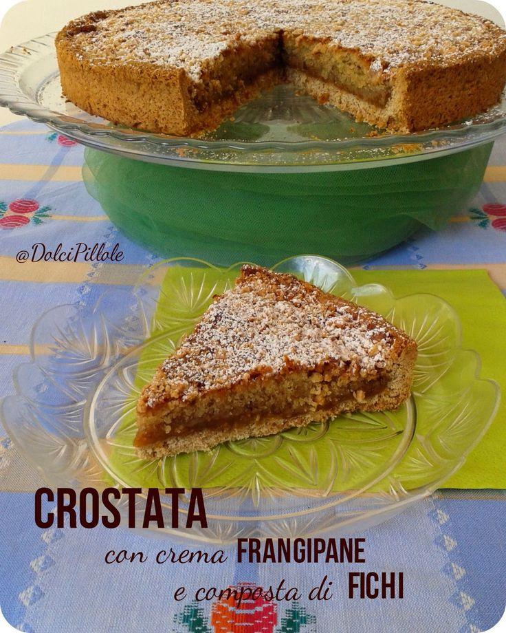 #Crostata con crema frangipane e composta di #fichi. #tart #dolcipilloleperilpalato http://dolcipilloleperilpalato.blogspot.it/2014/09/crostata-con-crema-frangipane-e.html