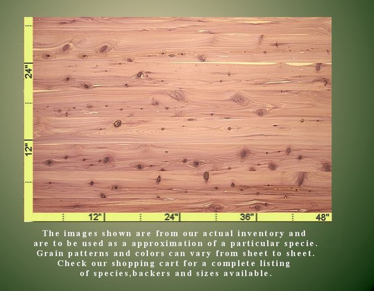 Aromatic Cedar Veneer Is A Great Choice For Rustic Furniture Piece