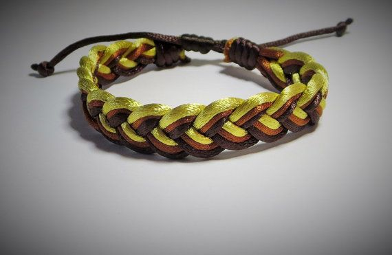 Classic Sailor Knots Bracelet Gold Brown and Dark by TiStephani