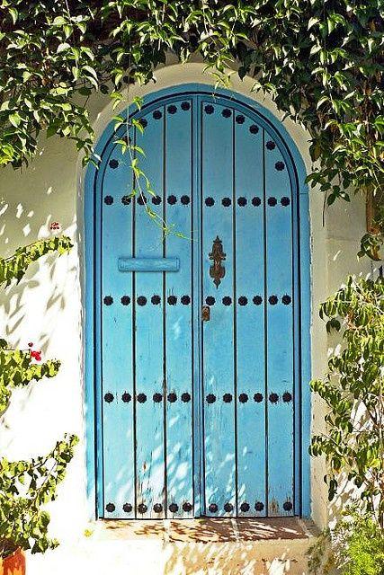 Blue Garden Gate Door ! Love the blue