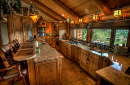 Granite Countertops Gourmet Kitchen Log Home Log Home