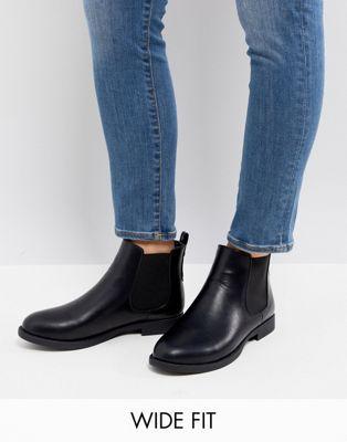 10ec00439a9f1 Park Lane Wide Fit Flat Chelsea Boots   Shoes   Flat chelsea boots ...