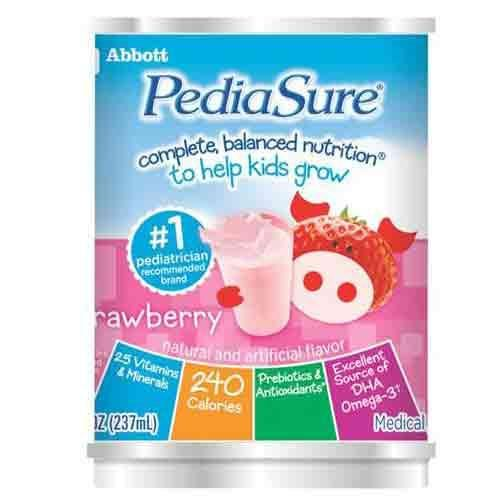 Pediasure ready to drink formula, 8oz. cans Strawberry 51880 cs/24