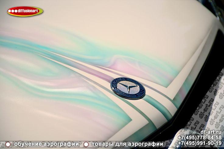 """Аэрография Mercedes E-Class Coupe """"Балуйте своих любимых"""""""