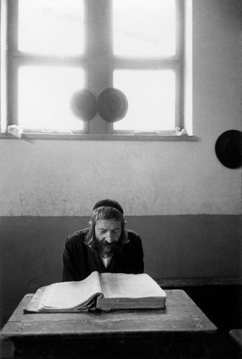Robert Capa. Jerusalem. A teacher in a Yeshiva