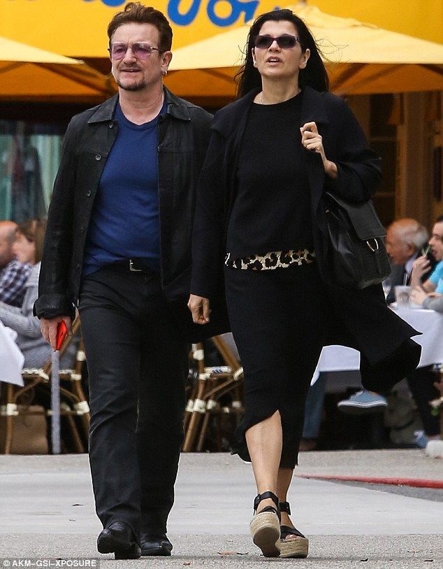 One love: Bono was in sync with wife of 34 years Ali Hewson as they enjoy a romantic Mothe...