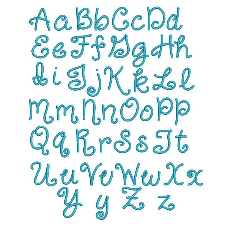 Giggles Script Machine Embroidery Font Fun Alphabet