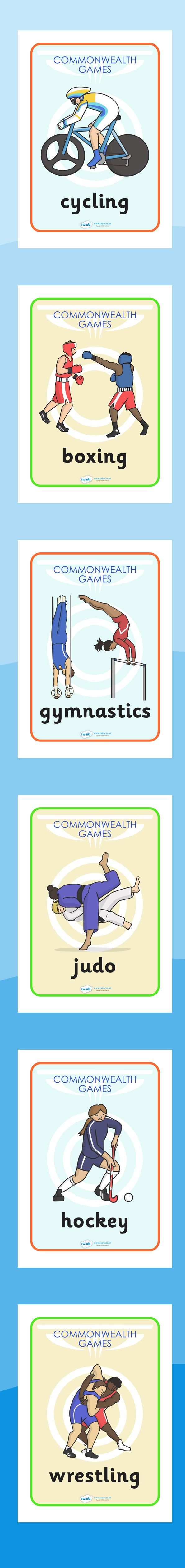 The Commonwealth Games- Display Posters