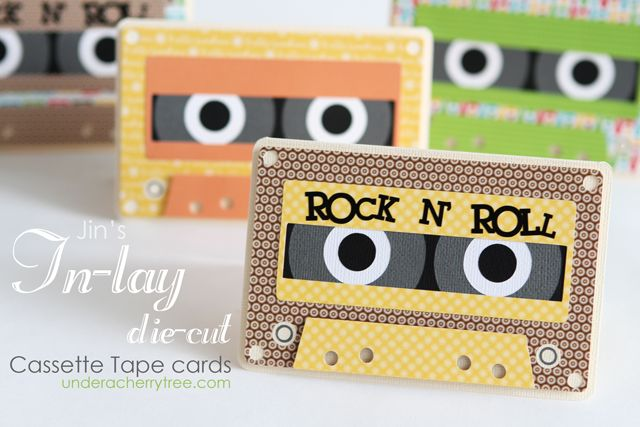 Under A Cherry Tree: Jin's In-lay die-cut Cassette Tape cards