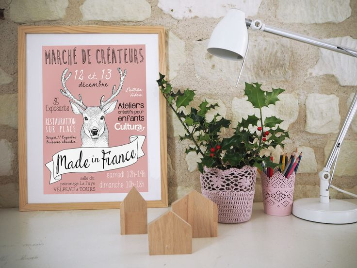 asaline illustrations_MADE IN FRANCE_marché de createurs-affiche-creation