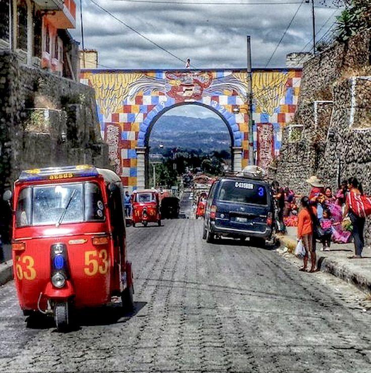 Street in Chichicastenango, Guatemala.