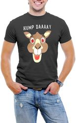 Hump Day! Camel Face Men T-Shirt Soft Cotton Short Sleeve Tee