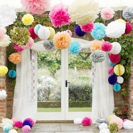 5色 ペーパーフラワー ウェディング デコレーション 結婚式