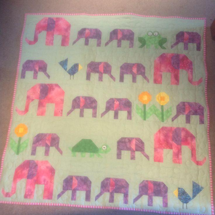 Elephant Parade Quilt for Harper Christina Roxburgh