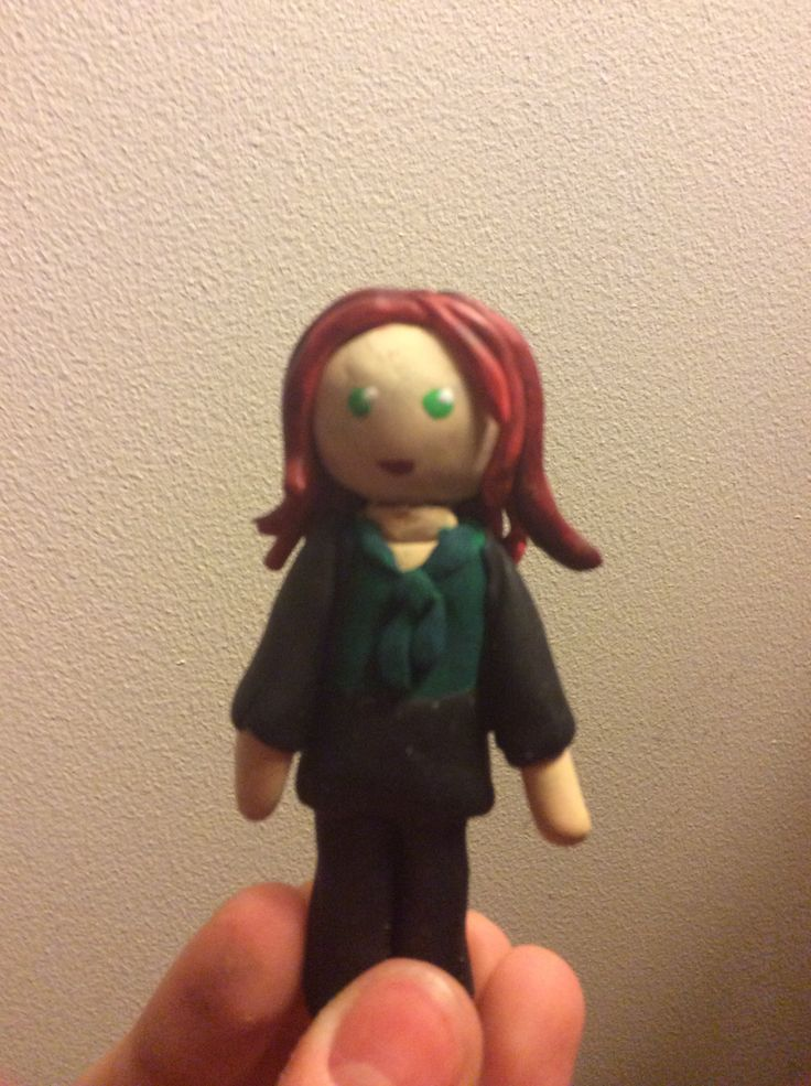 A mini clay version of Ariel from Once Upon a Time.