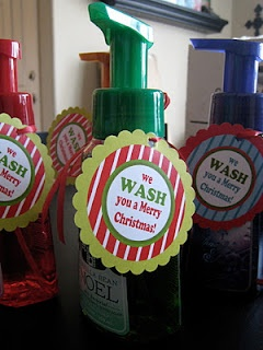 We wash you a Merry Christmas... teacher gift :)