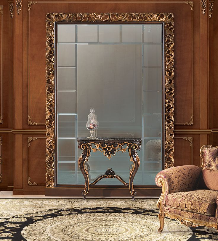 Luxury console and majestic frame with mirror