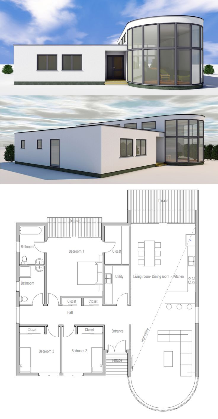 Small house plan small house plans pinterest house for Modern family house floor plan