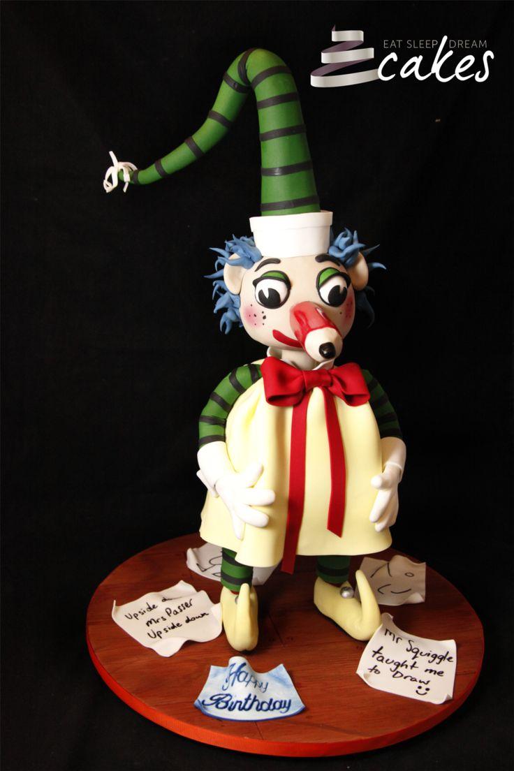 Mr Squiggle birthday cake